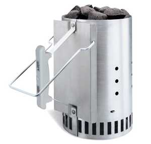 Weber Grill 7416 Rapid Fire Chimney Starter For Charcoal Grills