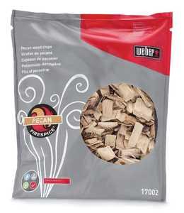 Weber Grill 17002 FireSpice Pecan Wood Chips 3-Lb Bag