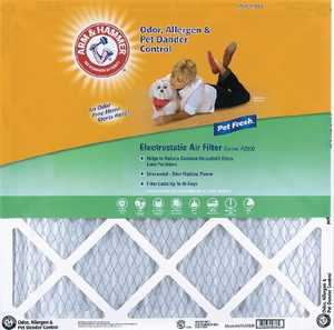 Protect Plus Air AF-AH1425 14 x 25 x 1-Inch Arm and Hammer Pet Fresh Air Filter