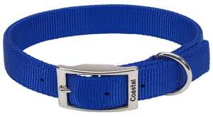 Coastal Pet Products CP2901BLU20 Double Ply 1 in X 20 in Nylon Dog Collar, Blue