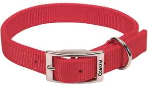 Coastal Pet Products CP2901RED20 Double Ply 1 in X 20 in Nylon Dog Collar, Red