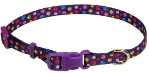 Coastal Pet Products CP6321SPW812 Adjustable 8 in -12 in X 3/8 in Dog Collar, Special Paw Pattern