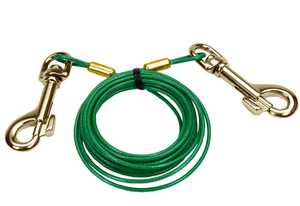 Coastal Pet Products CP8904012 Puppy Tie Out Cable With Brass Snaps