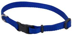 Coastal Pet Products CP6301BLU812 8 in -12 in Adjustable Nylon Dog Collar With Tuff Buckle, Blue