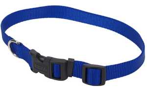 Coastal Pet Products CP6601BLU1420 Adjustable 14 in -20 in Nylon Dog Collar With Tuff Buckle, Blue