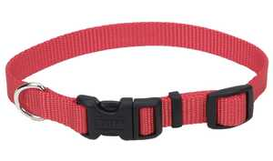 Coastal Pet Products CP6601RED1420 Adjustable 14 in -20 in Nylon Dog Collar With Tuff Buckle, Red