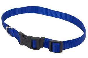 Coastal Pet Products CP6901BLU1826 Adjustable 18 in -26 in Nylon Dog Collar With Tuff Buckle, Blue