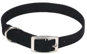 Coastal Pet Products CP401BLK14 Single Ply 5/8 in X 14 in Nylon Dog Collar, Black