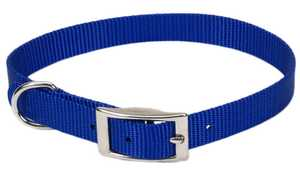 Coastal Pet Products CP401BLU14 Single Ply 5/8 in X 14 in Nylon Dog Collar, Blue