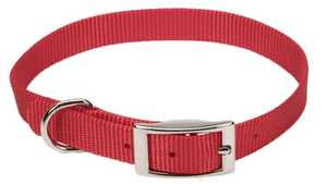 Coastal Pet Products CP401RED16 Single Ply 5/8 in X 16 in Nylon Dog Collar, Red