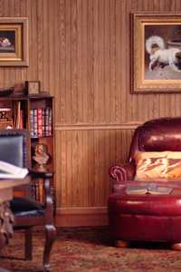 American Pacific, Inc. 32 in X48 in Highland Oak Beaded Wainscot Wall Panel