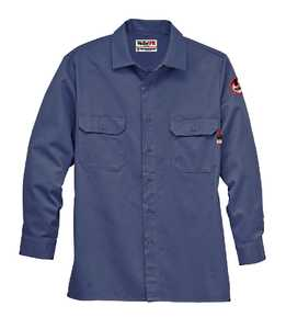 Walls FRO56915LTBRMD Medium Blue Flame-Resistant Core Work Shirt