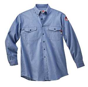 Walls FRO56388J 2X-Large Blue Flame-Resistant Button-Down Chambray Work Shirt
