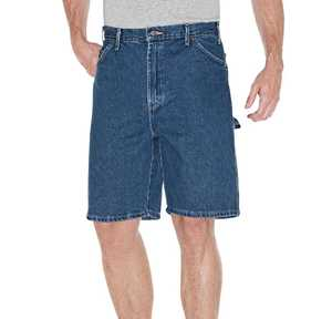 Dickies 3993SNB 40-Inch Stonewashed Indigo Blue Relaxed Fit Carpenter Short with 9.5-Inch Inseam