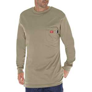 Dickies DFL511KH 2x-Large Khaki Flame-Resistant Long Sleeve T-Shirt
