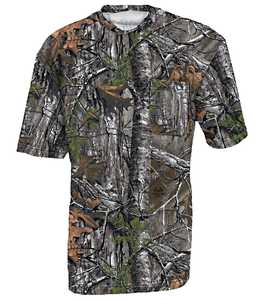 Walls 56094-M59M Medium Realtree Max-5 Hunting Short Sleeve Pocket T-Shirt