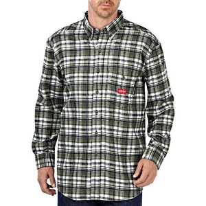 Dickies RL310WFP Flame-Resistant Long Sleeve Plaid Shirt 5X