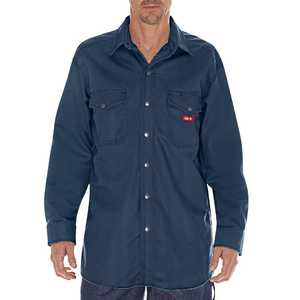 Dickies RL302NV 3X-Large Navy F.R. Twill Snap-Front Long Sleeve Shirt