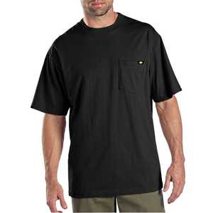 Dickies 1144624BK X-Large Black Pocket T-Shirt 2-Pack