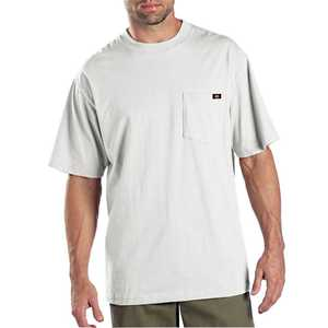 Dickies 1144624WH X-Large White Pocket T-Shirt 2-Pack