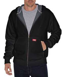 Dickies TW382BK Thermal Lined Fleece Hoodie Mr