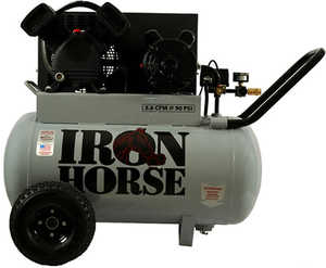Wood Industries IHP5120H1-US 20-Gallon 5-Hp Iron Horse Belt Drive Portable Air Compressor