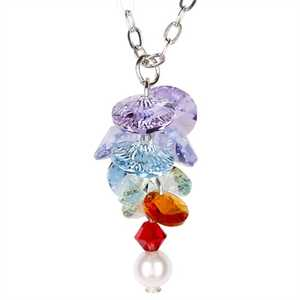 Woodstock Percussion GACN Garden Reflections Chakra Flower Necklace
