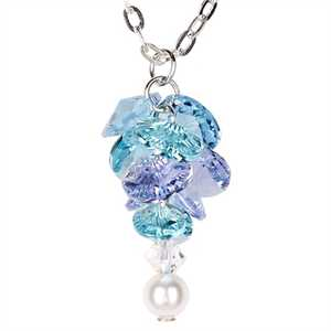 Woodstock Percussion GAFN Garden Reflections Forget Me Not Necklace