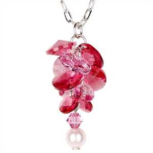 Woodstock Percussion GARN Garden Reflections Pink Rose Necklace