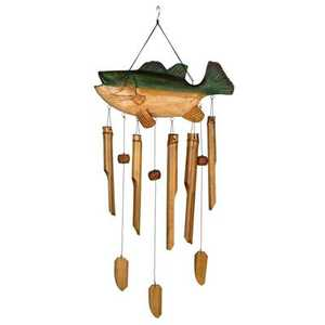 Woodstock Percussion CBS336 35-Inch Bass Fish Animal Bamboo Wind Chime