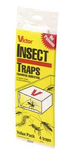 Victor M193 Glue Board Insect Traps, 4 Pack
