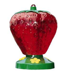 Perky Pet 260P Strawberry Plastic Hummingbird Feeder