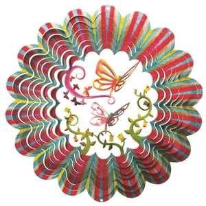 Iron Stop D6110-10 10-Inch Designer 3D Butterfly Wind Spinner