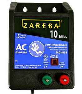 Zareba EAC10M-Z 10 Mile AC Low Impedance Charger