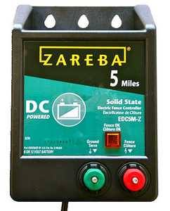 Zareba EDC5M-Z 5 Mile Battery Operated Solid State Charger