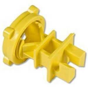 Zareba IRY-Z Yellow Screw-On Rod Post Insulator