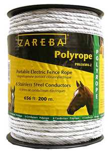 Zareba PR656W6-Z Portable Electric Fence Poly Rope 656 ft