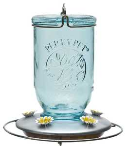 Perky Pet 785 Mason Jar Glass Hummingbird Feeder
