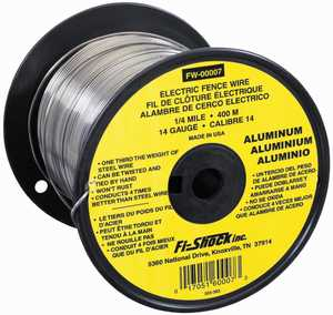 Zareba FW-00007T Aluminum Electric Fence Wire 14 Gauge &frac14 Mile