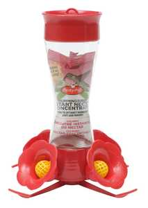 Perky Pet 203CPBN Pinch Waist Glass Hummingbird Feeder With Nectar