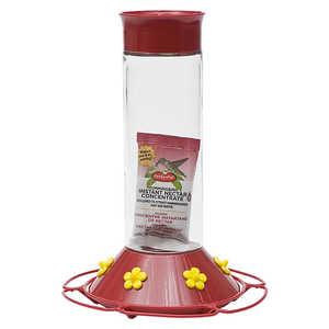 Perky Pet 209 B Glass Hummingbird Feeder 30 oz Capacity With Nectar