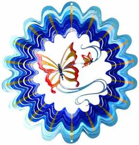 Iron Stop D120-10 10-Inch Purple and Blue Butterfly Wind Spinner