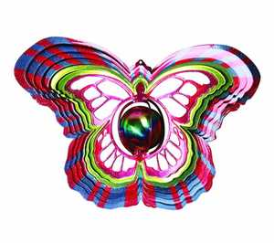 Iron Stop D1515 10-Inch Gazing Butterfly Wind Spinner