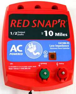 Red Snapr EAC10M-RS 10 Mile Low Impedance Energizer