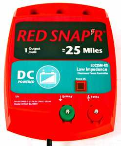 Red Snapr EDC25M-RS 25 Mile AC Low Impedance Energizer
