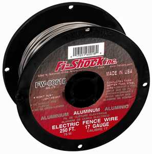 Zareba FW-00018D Wire Alum 250 ft 17ga