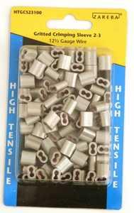 Zareba HTGCS23100 Gritted Crimp Sleeve 100 Piece