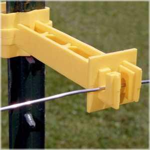 Zareba IT5XY-FS Insulator T Post Extndr 5 in Yellow