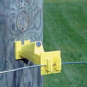 Zareba IW5XNY-FS Insulator Wood Post 5ext Nail Fs Yellow