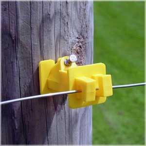 Zareba IWNY-FS Insulator Wood Post Nail Fs Yellow 25/Bag